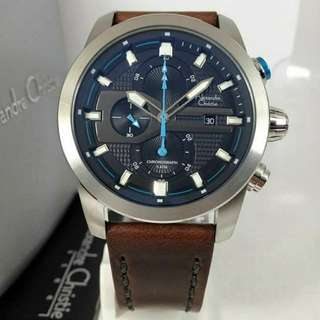 Jam Alexandre Christie AC 6270 Silver Brown Original