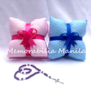 Mini Pillow with Rosary Giveaway - Souvenir for Baptism/Other Events