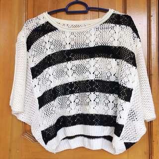 Baju rajut hitam putih