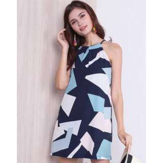 Neonmello Halo Everyday Abstract Dress in Prism