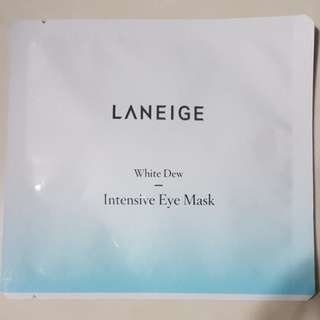 New Laneige White Dew Intensive Eye Mask