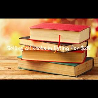 Clearance! All Books for $25