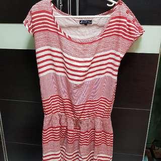 Cache cache red strip dress