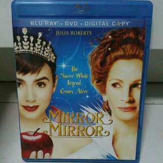 Mirror Mirror Blu Ray + Dvd For Sale Lily Collins Julia Roberts