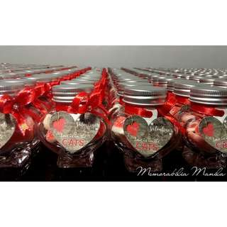 Heart-shaped Jar Giveaway - Souvenir for Birthday Party/Baptism/Debut/Corporate/etc