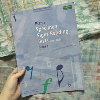 Grade 1 Piano ABRSM specimen sight reading tests (from 2009)