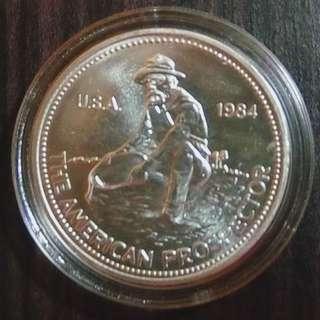 1 oz Silver Coin Engelhard 1984