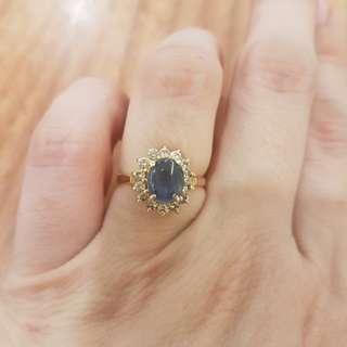 Cincin emas diamond ex pacar(asli diamond ya silakan cek jika ada alat)