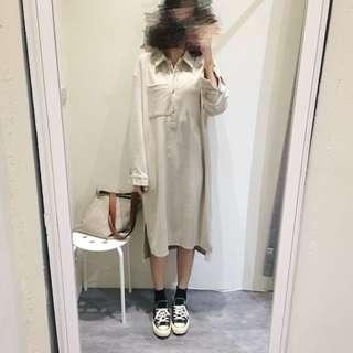 連身棉麻洋裝