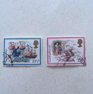 1982 Christmas  英國郵票一套五款