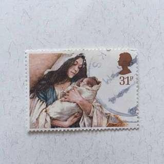 1984 Christmas 英國郵票一套五款