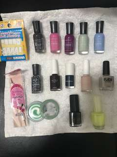 Nail polish products many