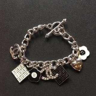 Chanel-inspired Silver Charm Bracelet