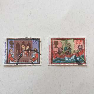 1986 Christmas 英國郵票一套六款