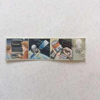 1982年 info. Technology 英國郵票一套兩款
