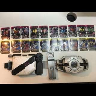 絕版假面騎士Decade 變身腰帶DX+卡片收納器槍劍