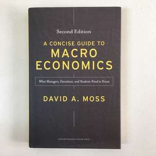 BRAND NEW A concise guide to macroeconomics