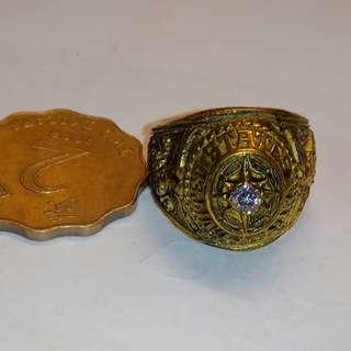 美軍海軍10k寶石戒指,品相如圖