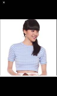 Love bonito Tilly Striped Crop Top