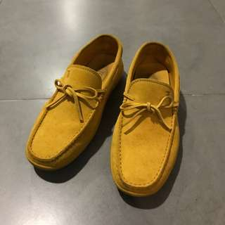 Tod's Yellow Suede Shoes
