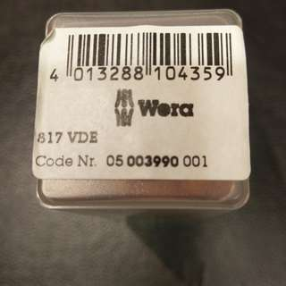 WERA 817 VDE 1000v 絕緣 原廠配件 批身