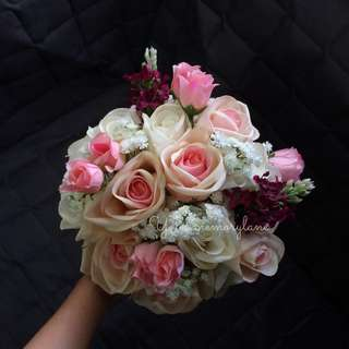 Artificial hand bouquet