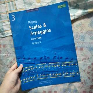 ABRSM grade 3 piano scales & arpeggios (from2009)