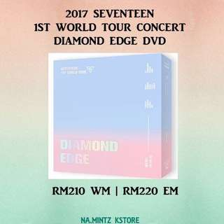 PRE-ORDER 2017 SEVENTEEN 1ST WORLD TOUR CONCERT DIAMOND EDGE DVD