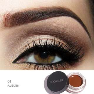 #01 AUBURN Focallure Eyebrow Pomade Gel Waterproof Maquiagem with brush included