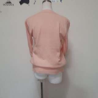 正韓🇰🇷粉粉橘針織薄毛衣