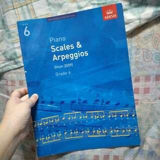 ABRSM Grade 6 piano scales and arpeggios