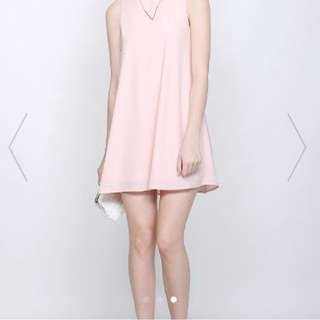 Fayth Brooke dress in blush size s
