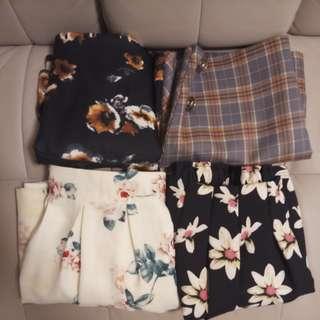 $260拎晒返屋企/4條 包郵 韓國款裙
