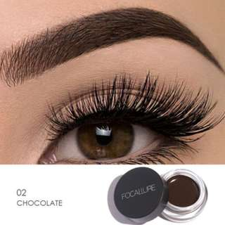 #2 CHOCOLATE Focallure Eyebrow Pomade Gel Waterproof Maquiagem with brush included