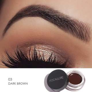#3 Dark Brown Focallure Eyebrow Pomade Gel Waterproof Maquiagem with brush included