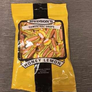 澳洲Hudson's 喉糖 蜂蜜檸檬