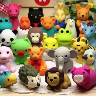 Cute 3D Animal Erasers