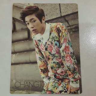 WTS/WTT TEEN TOP CHANGJO NO 1 OFFICIAL PHOTOCARD