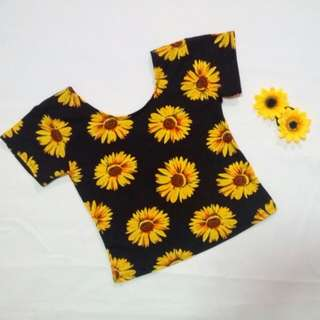 Sunflower Scoopback Crop Top