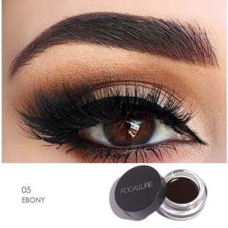 #5 Ebony Focallure Eyebrow Pomade Gel Waterproof Maquiagem with brush included
