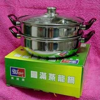 美迪達 圓滿蒸籠鍋(不鏽鋼)