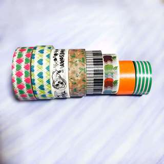 Set of 8 Washi Tapes