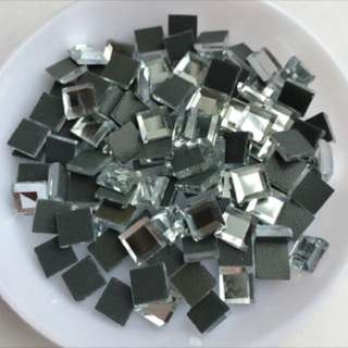 3mm by 3mm Square Mirror Rhinestones bling