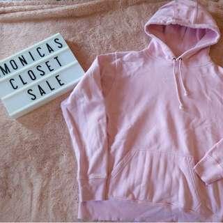 Baby Pink Pullover Hoodie Sweatshirt