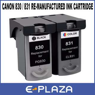 Canon Re-manufactured Ink Cartridges PG-830 Black CL-831 Color