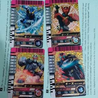 假面騎士 舊版蒙面超人系列 五星卡