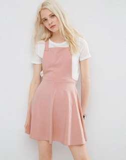 ASOS jersey light pink pinafore
