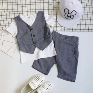 (READY STOCK) VEST SHIRT + PANT