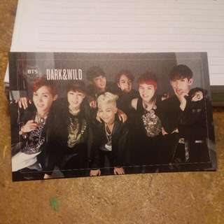 BTS DARK & WILD GROUP C OFFICIAL PHOTOCARD