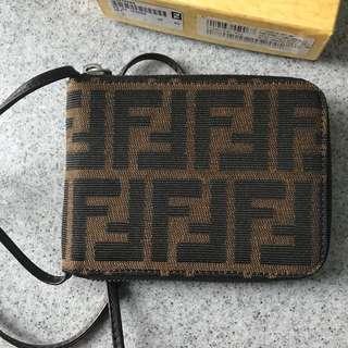 Vintage Fendi Monogram Bifold Zip Wallet - never used